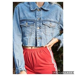 NWT pacsun cropped denim jacket